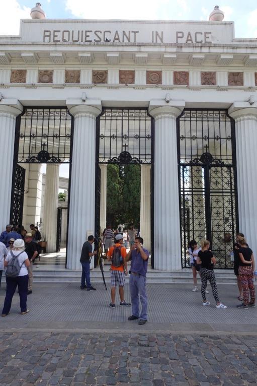Recoleta Cemetery entrance
